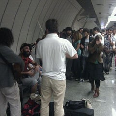 Photo taken at Hacıosman Metro İstasyonu by Aykut A. on 5/5/2012