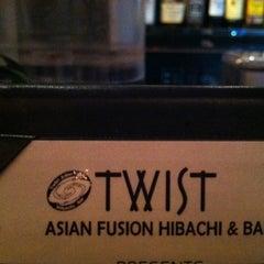 Photo taken at Twist Asian Fusion Hibachi & Bar by Jason G. on 7/13/2012