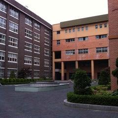 Photo taken at 신기중학교 정원 (Quad @ Shin-gi Middle School) by KJ on 5/28/2011