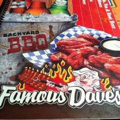 Photo taken at Famous Dave's by Dan P. on 3/2/2012