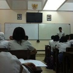 Photo taken at SMA Trimurti Surabaya by Rosalovita A. on 3/13/2012