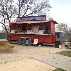 Photo taken at Hill Country Pierogi by aaron h. on 2/16/2012
