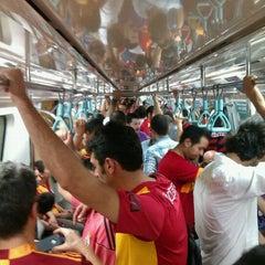 Photo taken at Sanayi Metro İstasyonu by Bahadır G. on 8/8/2012