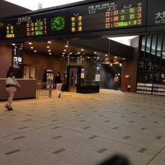 Photo taken at JR 宝塚駅 (Takarazuka Sta.) by Aguri K. on 7/27/2012