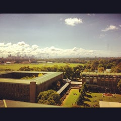 Photo taken at UNSW Main Library by Isabella S. on 3/26/2012