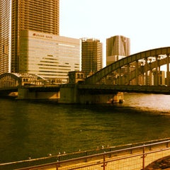 Photo taken at 勝鬨橋 by yass_taken on 3/20/2012