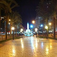 Photo taken at Plaza de Los Luceros by Marta A. on 12/23/2010