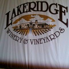 Photo taken at Lakeridge Winery & Vineyards by Susan M. on 3/31/2012