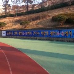 Photo taken at 부산 아시아드 보조구장 by Hyunjin P. on 4/1/2011