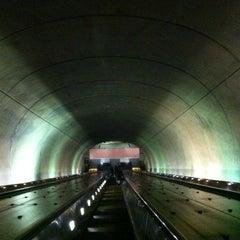 Photo taken at Tenleytown-AU Metro Station by Frankie on 7/7/2012