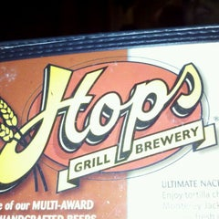 Photo taken at Hops Restaurant Bar & Brewery by Fred G. on 1/6/2012