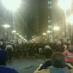 Photo taken at #OccupyChicago by Amanda A. on 11/30/2011