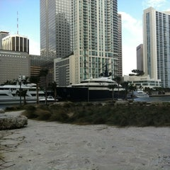 Photo taken at Miami Circle Park by Lucy L. on 12/17/2011