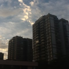 Photo taken at Barra da Tijuca by Raquel S. on 5/25/2012