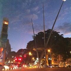 Photo taken at Plaza Alfredo Sadel by koji k. on 1/16/2012