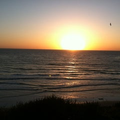 Photo taken at Cardiff State Beach by Tina F. on 3/19/2012