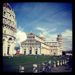 Photo taken at Piazza del Duomo (Piazza dei Miracoli) by Juan A. on 4/5/2012