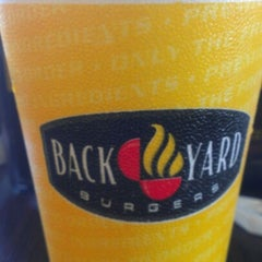Photo taken at Backyard Burger by Melissa B. on 7/18/2012