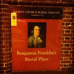 Photo taken at Benjamin Franklin's Grave by Steve R. on 7/4/2012