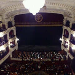 Photo taken at Teatro Municipal de Santiago by Juan Manuel T. on 5/11/2012