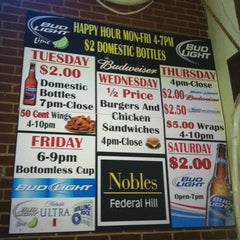 Photo taken at Nobles Bar & Grill by @followfrannie B. on 2/22/2012
