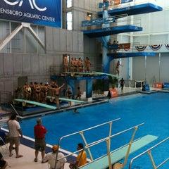 Photo taken at Greensboro Aquatic Center by Steve B. on 8/14/2012