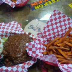 Photo taken at Patty Shack Burgers by Eric T. on 9/24/2011