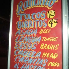 Photo taken at El Ranchito Taco Truck by Daniel R. on 1/27/2012