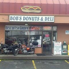 Photo taken at Bob's Donuts by Thomas P. on 2/9/2012