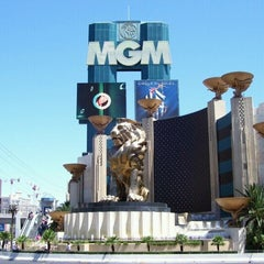 Photo taken at MGM Grand Lion Statue by Dave on 6/30/2012