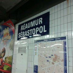 Photo taken at Métro Réaumur—Sébastopol [3,4] by Eléonore G. on 2/23/2012