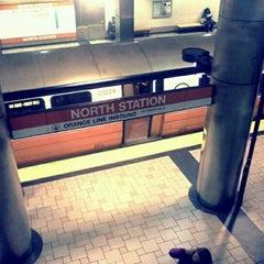 Photo taken at MBTA North Station by Stephanie O. on 3/28/2012