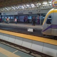 Photo taken at LRT 2 (Araneta Center-Cubao Station) by Dark D. on 9/11/2012