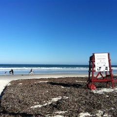 Photo taken at Wilbur-by-the-Sea Beach by Amber S. on 12/30/2011