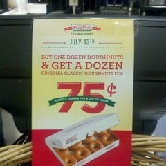 Photo taken at Krispy Kreme Doughnuts by Angela Y. on 7/11/2012