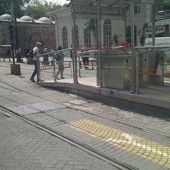 Photo taken at Beyazıt - Kapalıçarşı Tramvay Durağı by Savas K. on 5/29/2012