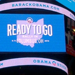 Photo taken at Ready To Go Rally in Columbus with Barack and Michelle Obama 05/05/2012 by Bronson W. on 5/5/2012