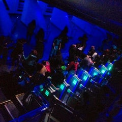Photo taken at スペース・マウンテン (Space Mountain) by hi_de_mo_R on 3/12/2012