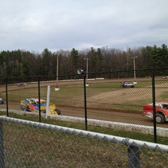 Photo taken at Albany-Saratoga Speedway by Michelle R. on 4/15/2012