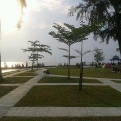 Photo taken at Pantai Morib by Reza M. on 8/20/2012