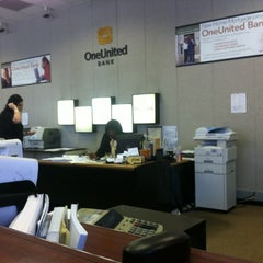 Photo taken at One United Bank by Theron X. on 5/31/2012