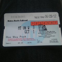 Photo taken at Metro North - Mt Vernon West Train Station by Izzy C. on 6/15/2012