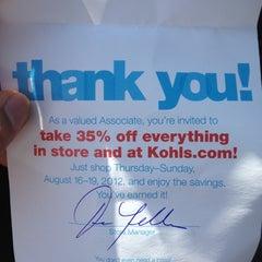 Photo taken at Kohl's by Bayron M. on 8/16/2012