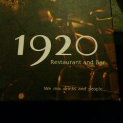 Photo taken at 1920 Restaurant & Bar by Diego X. on 4/24/2012