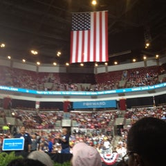 Photo taken at Ready To Go Rally in Columbus with Barack and Michelle Obama 05/05/2012 by Lindsay M. on 5/5/2012