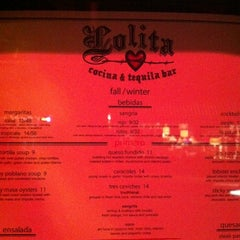 Photo taken at Lolita Cocina & Tequila Bar by Danny F. on 2/10/2012