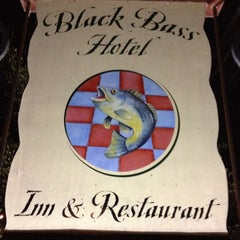 Photo taken at Black Bass Hotel by Brian P. on 3/31/2012