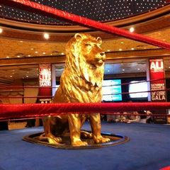 Photo taken at MGM Grand Lion Statue by Douglas K. on 2/19/2012