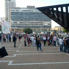 Photo taken at Rabin Square (כיכר רבין) by Didi C. on 5/12/2012
