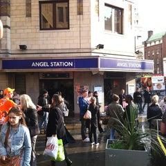 Photo taken at Angel London Underground Station by Steven B. on 4/13/2012